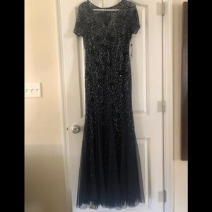 Adrianna Papell navy formal dress size 8